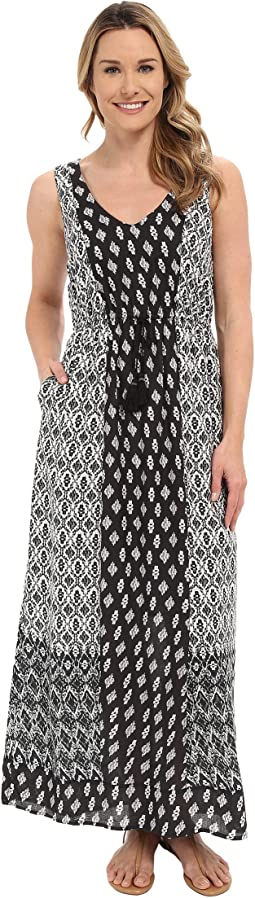 Lucky Brand Woodblock Mixed Dress