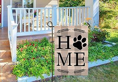 Atenia Dog Home Garden Porch Flag, Double Sided Garden Outdoor Yard Spring Decorative Home Flags for Summer Decor (Garden Siz