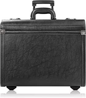 Solo Lincoln Rolling Catalog Case with Dual Combination Locks - Rolling Briefcase for Men and Women. Telescoping Handle Sy...