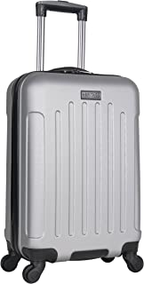 """Heritage Travelware Lincoln Park 20"""" Hardside 4-Wheel Spinner Carry-on Luggage, Light Silver"""