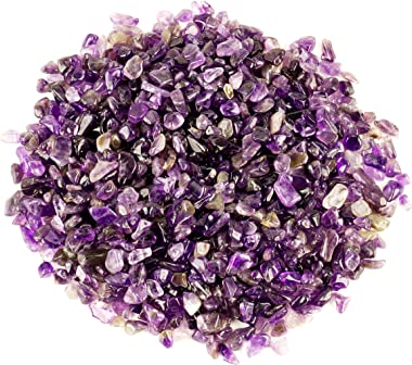 Cherry Tree Collection 1/2 Pound Polished Tumbled Gemstone Chips| Crystals for Decoration, Healing, Reiki, Chakra (Amethyst)