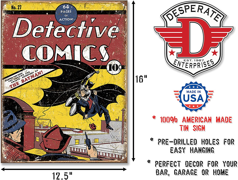 Detective Batman Comics tin metal sign metal wall art