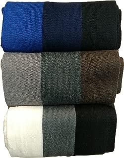 Warm fleece kint Winter Neck Scarfs, Unisex Black, Plaid, Stripe Design