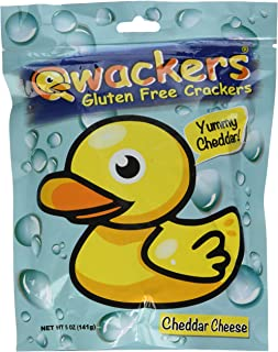 Qwackers Crackers Stand Up Pouch, Cheddar Cheese, 5 Ounce