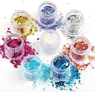 Naler Glittersequin Chunky glitter voor gezicht nagels make-up glitter cosmetica glanzende pailletten voor festival masker...