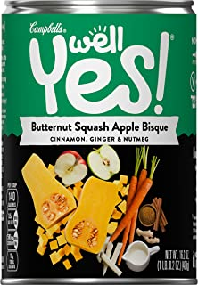 Campbell's Well Yes! Butternut Squash Apple Bisque, 16.2 oz. Can (Pack of 12)