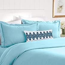 Elegant Comfort Best, Softest, Coziest Duvet Cover Ever! 1500 Thread Count Egyptian Quality Luxury Super Soft Wrinkle Free 3-Piece Duvet Cover Set, King/Cali King, Aqua