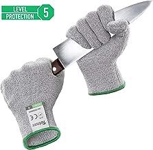 Paire de Gants Anti-Coupures Twinzee, Taille M - Gant Cuisine avec Protection de Niveau 5, Norme EN 388 - Meilleure Protection contre les Coupures du Quotidien Couteau Cuisines, Jardinage, Bricolage