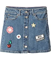 Kate Spade New York Kids - Patched Denim Skirt (Big Kids)