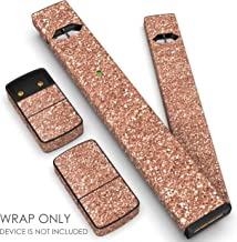 JUUL Skin - JUUL Wrap - JUUL Decal - JUUL Cover - JUUL Starter Kit Stickers - Pax JUUL Skin for Device Charger Pods - Original JUUL Vape Pen Accessories Skin (Rose Gold Glitter)