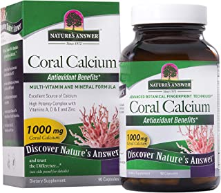 Nature's Answer Coral Calcium 1000 mg, 90-Count | Promote Heart Health and Muscular Function