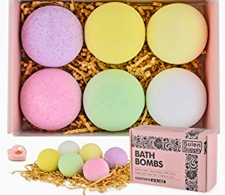 Sulen Supply Organic Bath Bombs with Vitamin E, Cocoa butter and Dead sea salt to relax, detox, beautify and moisturize body & skin. Oil scented Lavender, Vanilla, Coconut, Roses, Tea tree, Milk