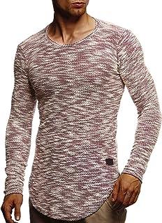 86c5ca8d6c LEIF NELSON Herren Pullover Rundhals-Ausschnitt   Schwarzer Männer  Longsleeve   dünner Pulli Sweatshirt Langarmshirt
