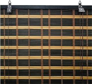 Solagua 6 Modelos 14 Medidas de estores de bambú Cortina de Madera persiana Enrollable (60 x 175 cm, Bicolor)