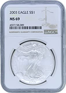 2003 American Silver Eagle $1 MS69 NGC