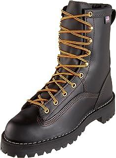 Danner Women's Rain Forest Black Uninsulated W Work Boot,Black,5 M US