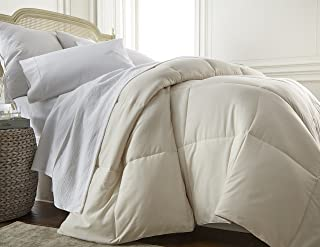 ienjoy Home Home Collection Premium Luxury Down Fiber Comforter, California King, Ivory