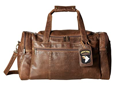 Scully Squadron Duffel w/ 81 Aero Squadron Luggage Tag (Antique Brown) Duffel Bags
