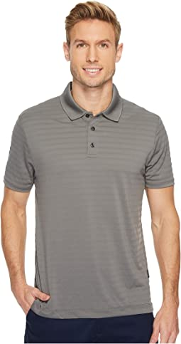 Perry Ellis Short Sleeve Striped Jacquard Polo