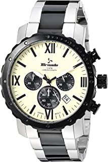 TORNADO Men's Chronograph Ivory Dial Watch - 40921