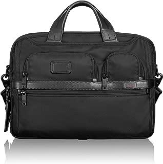 TUMI - Alpha 2 T-Pass Medium Screen Laptop Slim Brief Briefcase - 14 Inch Computer Bag for Men and Women - Black