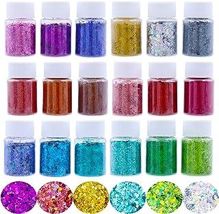 Sponsored Ad - BEIJITA Resin Glitter,18 Colors Chunky Glitter,Fine Glitter,Holographic Glitter for Resin,Tumblers,Craft,Li...