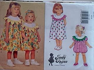 Butterick Sewing Pattern 3462 Girls Size 4-5-6 Easy Judy Lynn Flower Petal Collar Dress Romper.