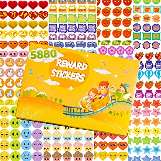 HORIECHALY Reward Stickers for Kids, Teacher Stickers, Mega Variety Pack Total in 5880 pcs 70+ Design Styles Incentive Stickers Classroom and School Supplies, Bulk Use for Reward Behavior Chart