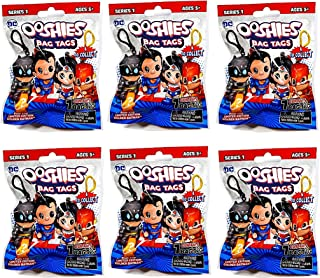 Ooshies DC Bag Tags Super Heroes Series 1 Blind Bag LOT Bundle of (6)
