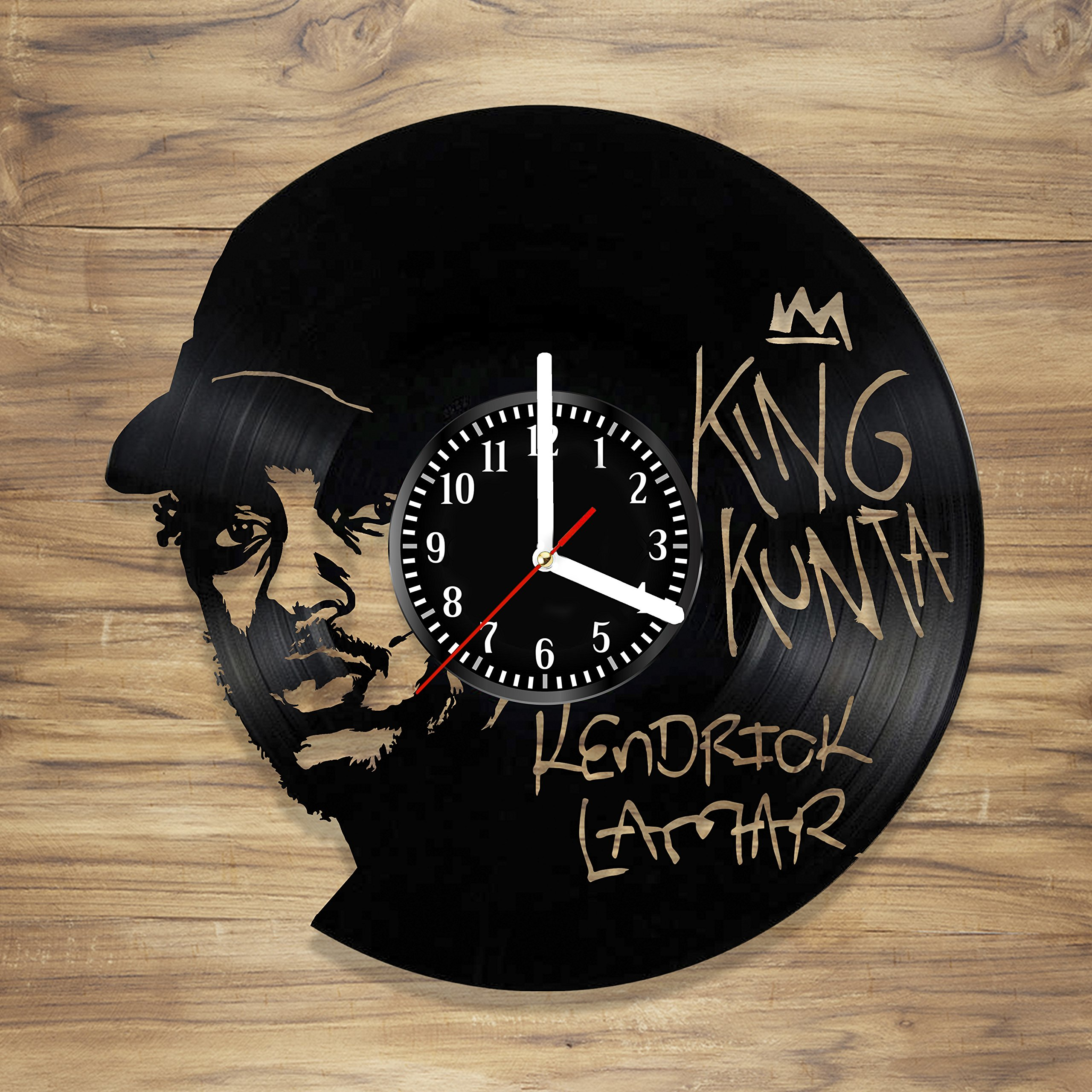 Amazon Com Kendrick Lamar Vinyl Record Wall Clock Rapper Rap King Music Perfect Art Decorate Home Style Unique Gift Idea For Him Her 12 Inches Home Kitchen