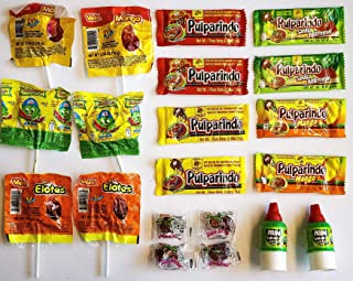 Mexican Candy Assortment Mix - 20 Pieces - Variety of Sweet, Spicy and Sour Candies