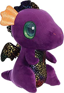 "Aurora - Light-Up Cuties - 9"" Light Up Shimmery Purple Dragon"