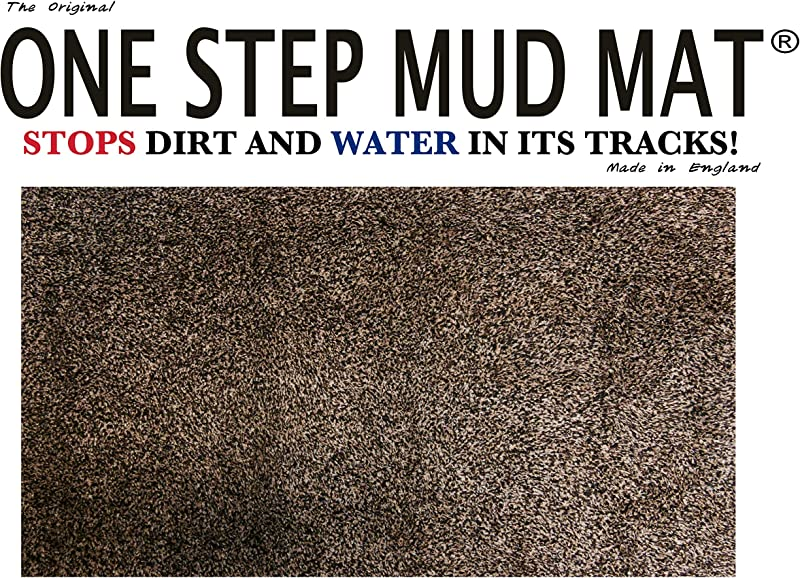 One Step Mud Mat Original Made In England 31W X 47L Large Brown Cotton Microfiber Indoor Floor Mat With Non Slip Backing Traps Mud And Dirt Perfect For Pets Excellent For High Traffic Areas