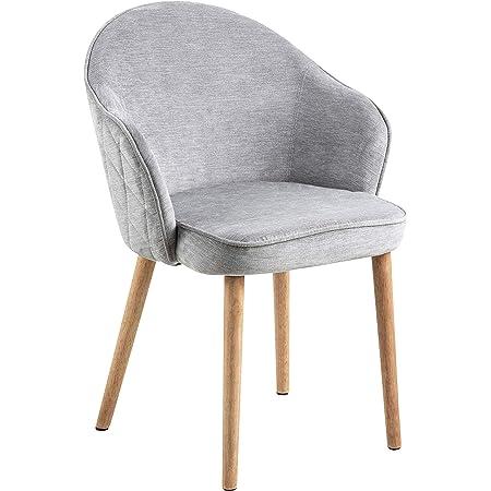 Marque Amazon - Movian Sils - Chaise de salle à manger, 46,5 x 63 x 80 cm, Gris