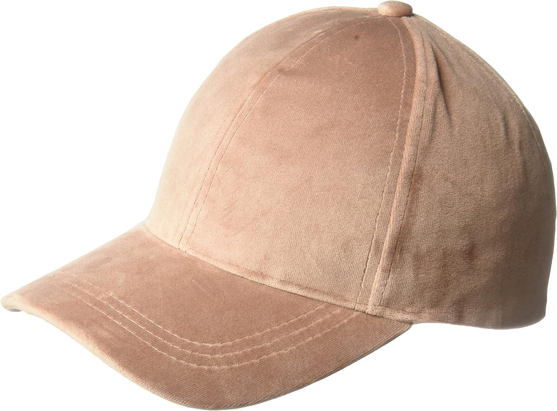 D&Y Women's Solid Velvet Baseball Cap, Mauve, One Size