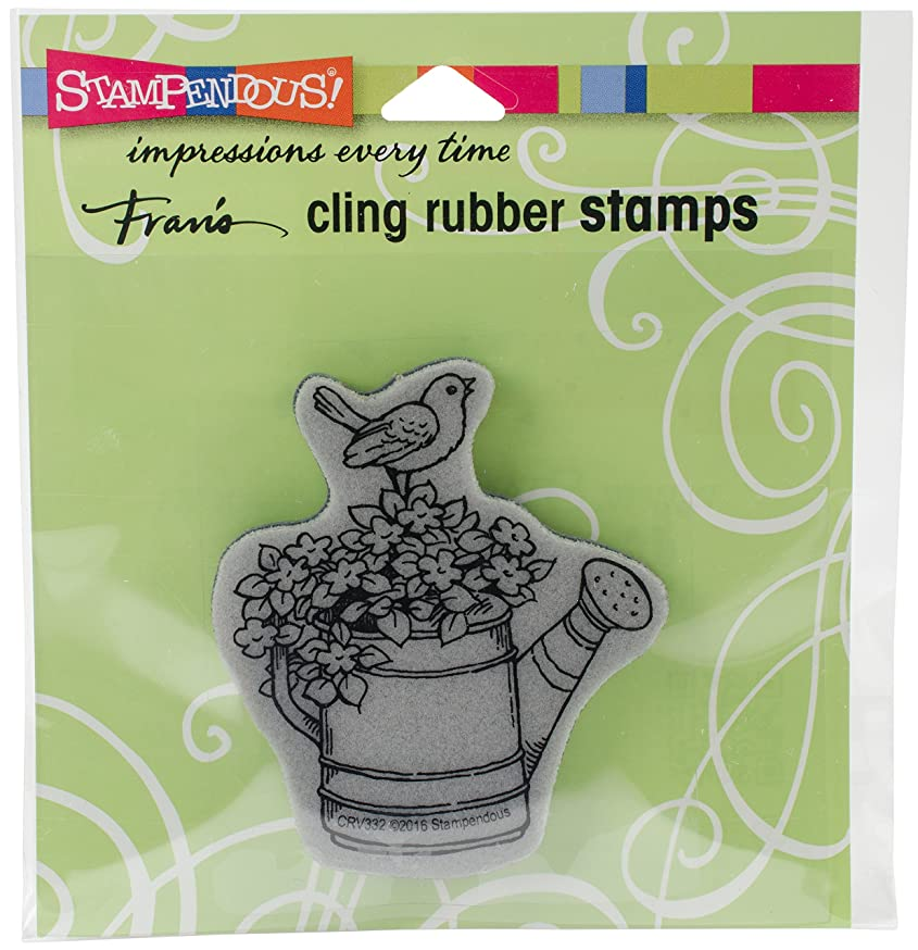 STAMPENDOUS Stamp Watering Can Bird