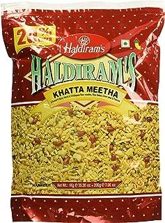 Haldiram's Khatta Meetha (Sweet-n-spicy) Mix of Chickpeas Flour Noodles,Rice flakes, Green Peas & Peanuts - 35.30oz, 1kg
