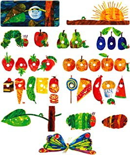 Little Folk Visuals The Very Hungry Caterpillar Precut Flannel/Felt Board Figures for Toddlers, Kindergarteners, Interactive Teaching 14-Piece Set for Flannel Board Stories
