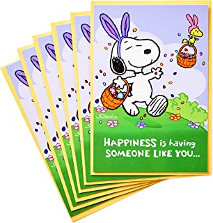 Best Hallmark Peanuts Pack of Easter Cards, Snoopy Jelly Beans (6 Cards with Envelopes) Review