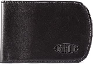 Men's RFID Blocking Leather Curve Bi-Fold Slim Wallet, Holds Up to 20 Cards, Black