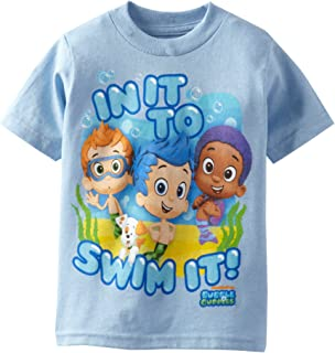 Freeze Nickelodeon Little Boys' Bubble Guppies T-Shirt Toddler, Sky Blue, 3T