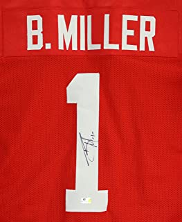 Braxton Miller Ohio State Buckeyes Signed Autographed Red #1 Custom Jersey Witnessed COA