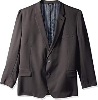NEW Haggar H26 Men/'s Tailored Fit Premium Stretch Suit Jacket Black 46L
