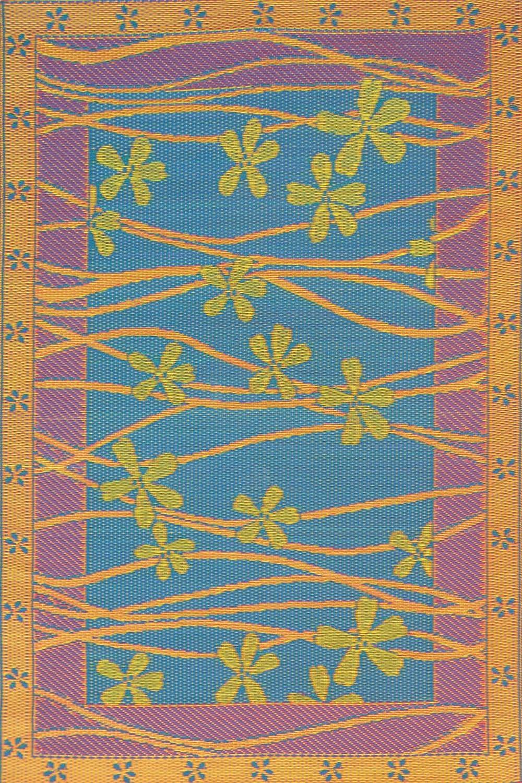 Mad Mats Tall Grass Indoor Outdoor Floor Mat, 6 by 9', Aqua