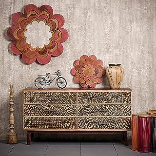 Native Home Aparador Salón con Cajones Cómoda Moderna Mueble Original Madera Maciza 78 x 147 x 48 cm Marrón