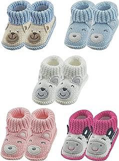Handmade Baby Booties Crochet for Unisex Newborn Boy Girl