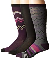 Steve Madden - 3-Pack Knee High Geo Chevron