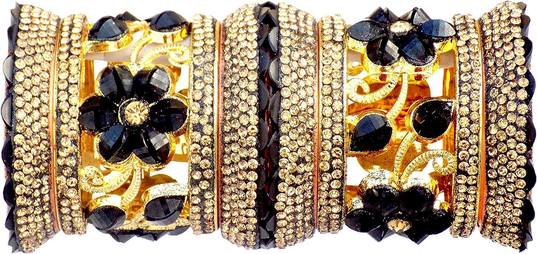 JD'Z COLLECTION Indian Bangles Set for Women Costume Matching Beautiful Bangle Bracelet Traditional Wear Bangles Set