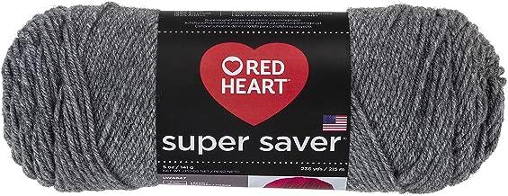 RED HEARTSuper Saver Yarn, Grey Heather