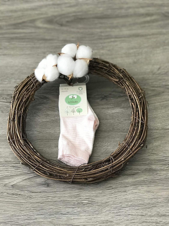 Kitikate 100% Organic Cotton Baby Girl 2 Pair Socks, GOTS